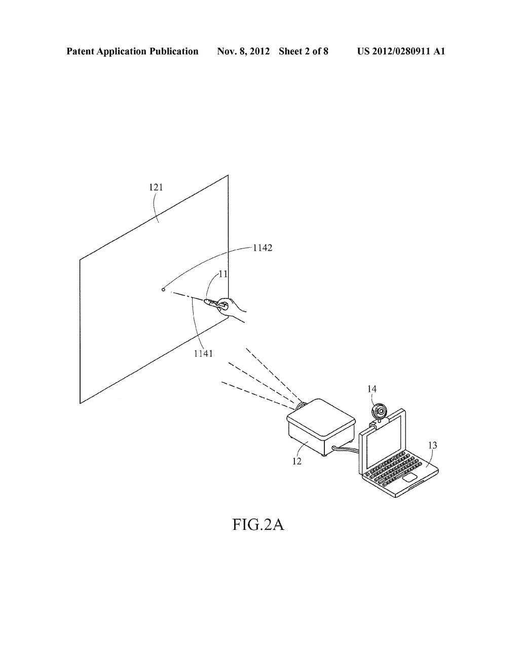 INDICATING DEVICE USED FOR A PROJECTION SYSTEM - diagram, schematic, and image 03