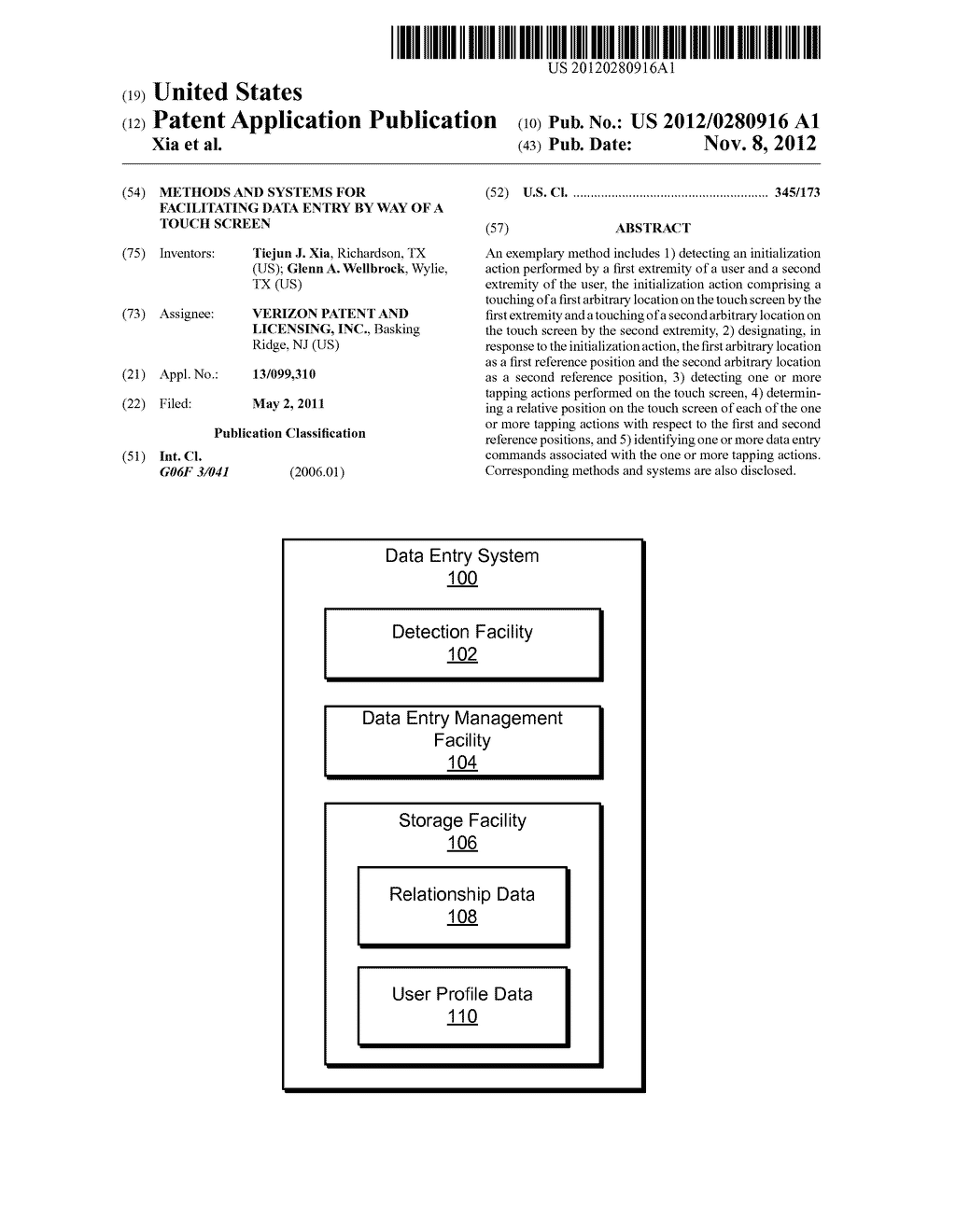 Methods and Systems for Facilitating Data Entry by Way of a Touch Screen - diagram, schematic, and image 01