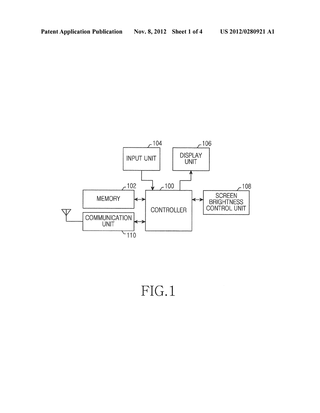 APPARATUS AND METHOD FOR CONTROLLING BRIGHTNESS IN PORTABLE TERMINAL - diagram, schematic, and image 02