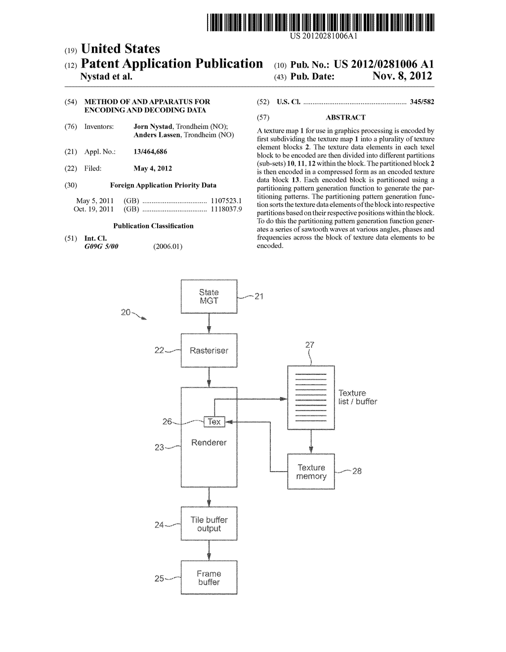 Method Of And Apparatus For Encoding And Decoding Data - diagram, schematic, and image 01