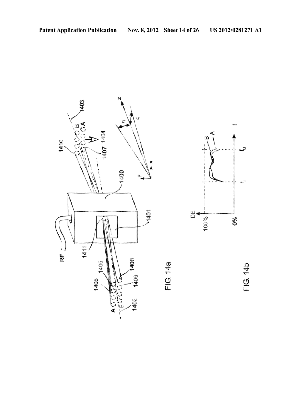 Method and Device Scanning a Two-Dimensional Brush Through an     Acousto-Optic Deflector (AOD) Having an Extended Field in a Scanning     Direction - diagram, schematic, and image 15