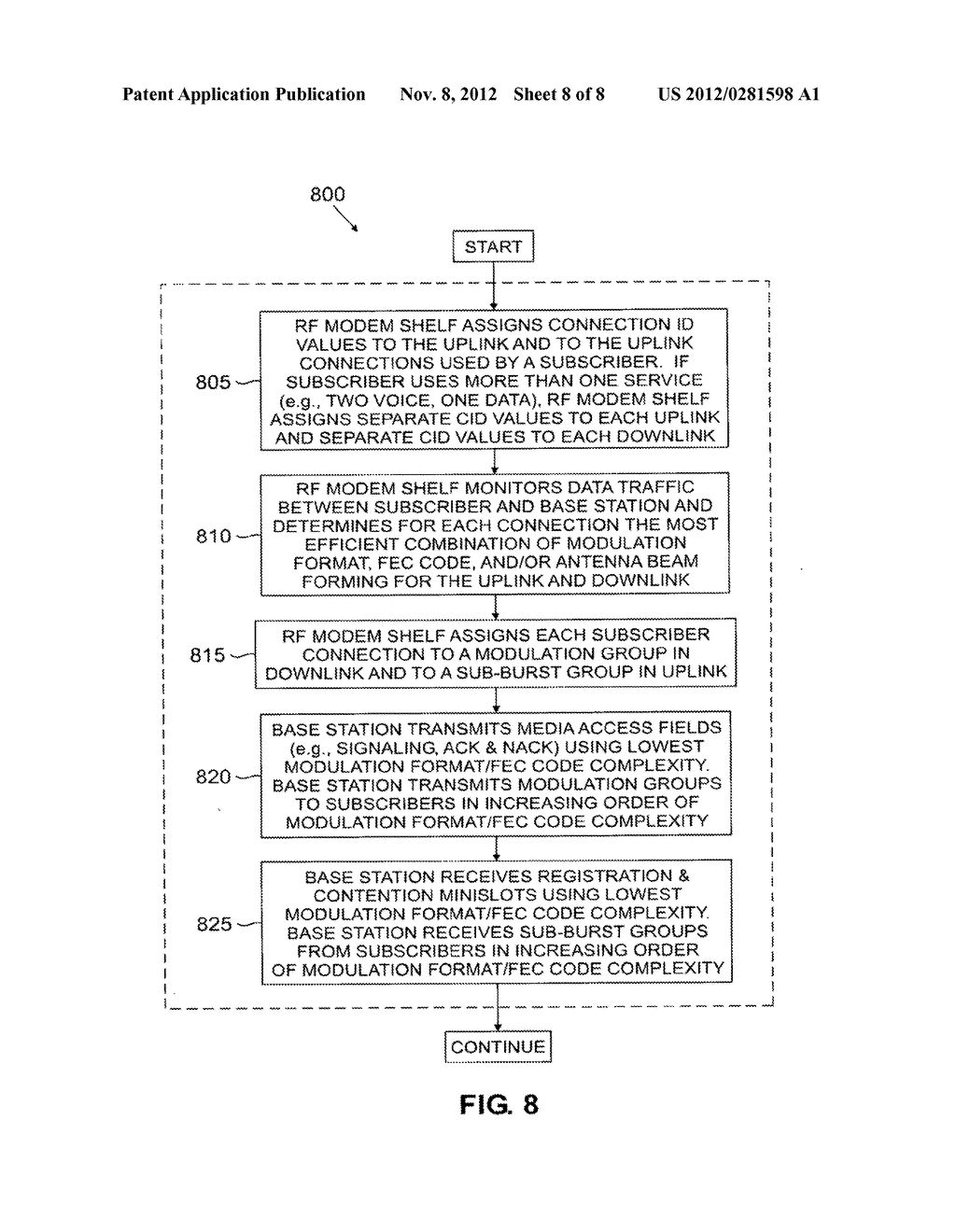 Wireless access system using multiple modulation formats in TDD frames and     method of operation - diagram, schematic, and image 09