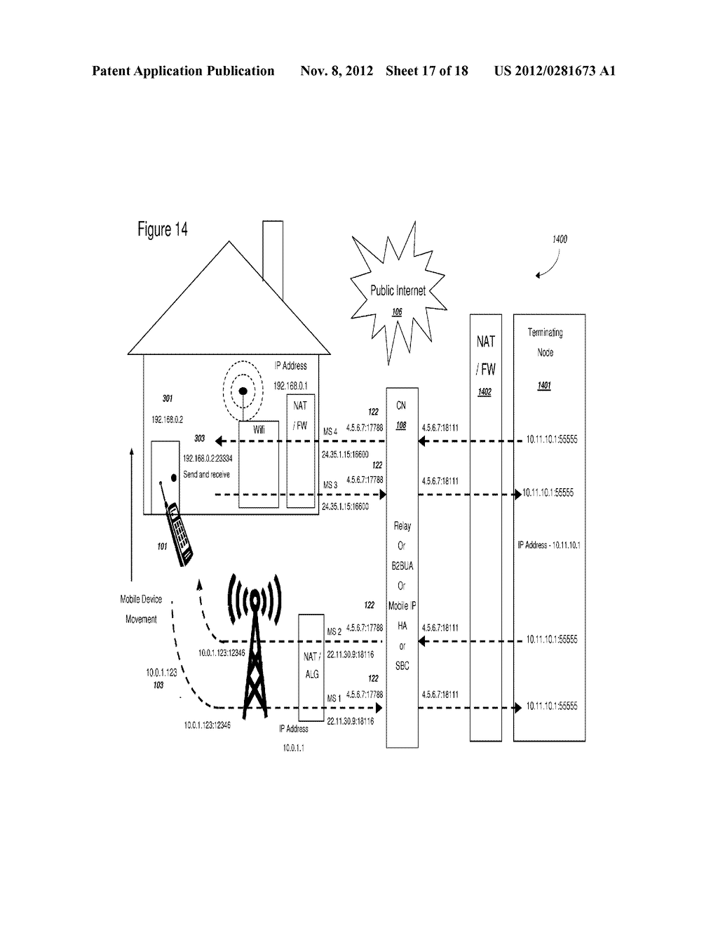 EFFICIENT HANDOVER OF MEDIA COMMUNICATIONS IN HETEROGENEOUS IP NETWORKS     USING LAN PROFILES AND NETWORK HANDOVER RULES - diagram, schematic, and image 18
