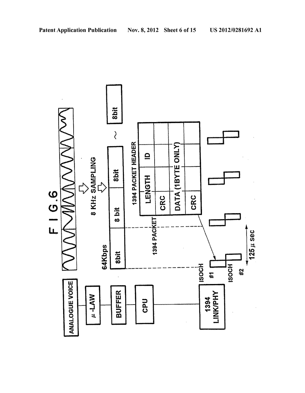 NETWORK SWITCHING SYSTEM WITH ASYNCHRONOUS AND ISOCHRONOUS INTERFACE - diagram, schematic, and image 07