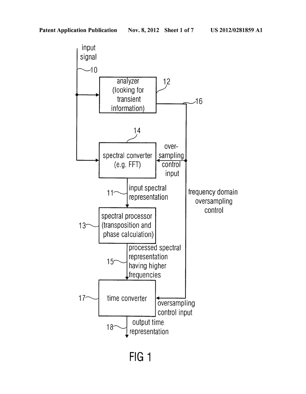 APPARATUS AND METHOD FOR GENERATING A HIGH FREQUENCY AUDIO SIGNAL USING     ADAPTIVE OVERSAMPLING - diagram, schematic, and image 02
