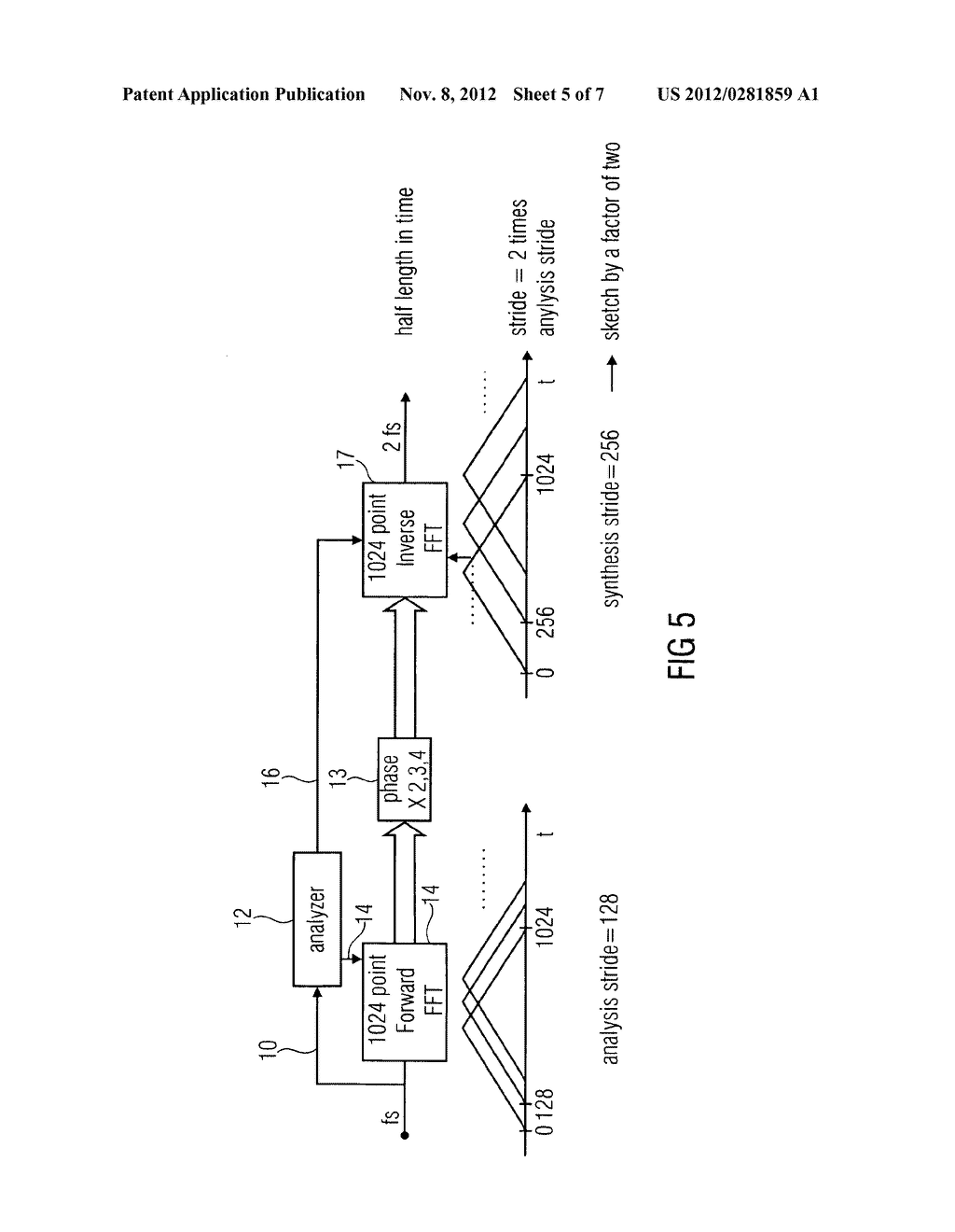 APPARATUS AND METHOD FOR GENERATING A HIGH FREQUENCY AUDIO SIGNAL USING     ADAPTIVE OVERSAMPLING - diagram, schematic, and image 06