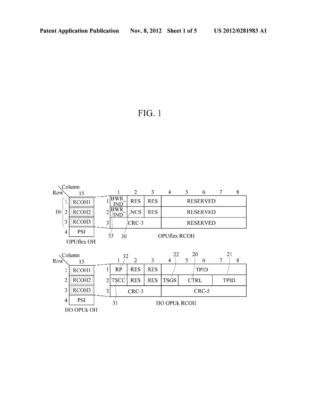 METHOD AND APPARATUS FOR GENERATING RESIZE CONTROL OVERHEAD IN OPTICAL     TRANSPORT NETWORK - diagram, schematic, and image 02