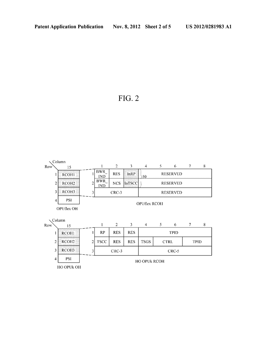 METHOD AND APPARATUS FOR GENERATING RESIZE CONTROL OVERHEAD IN OPTICAL     TRANSPORT NETWORK - diagram, schematic, and image 03