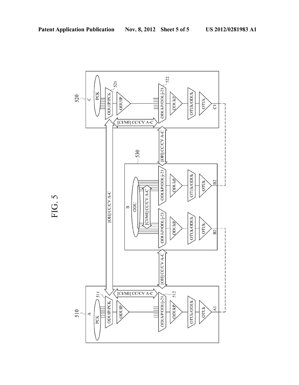 METHOD AND APPARATUS FOR GENERATING RESIZE CONTROL OVERHEAD IN OPTICAL     TRANSPORT NETWORK - diagram, schematic, and image 06