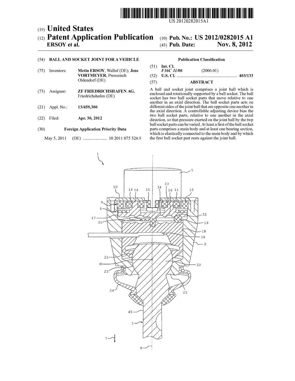 BALL AND SOCKET JOINT FOR A VEHICLE - diagram, schematic, and image 01