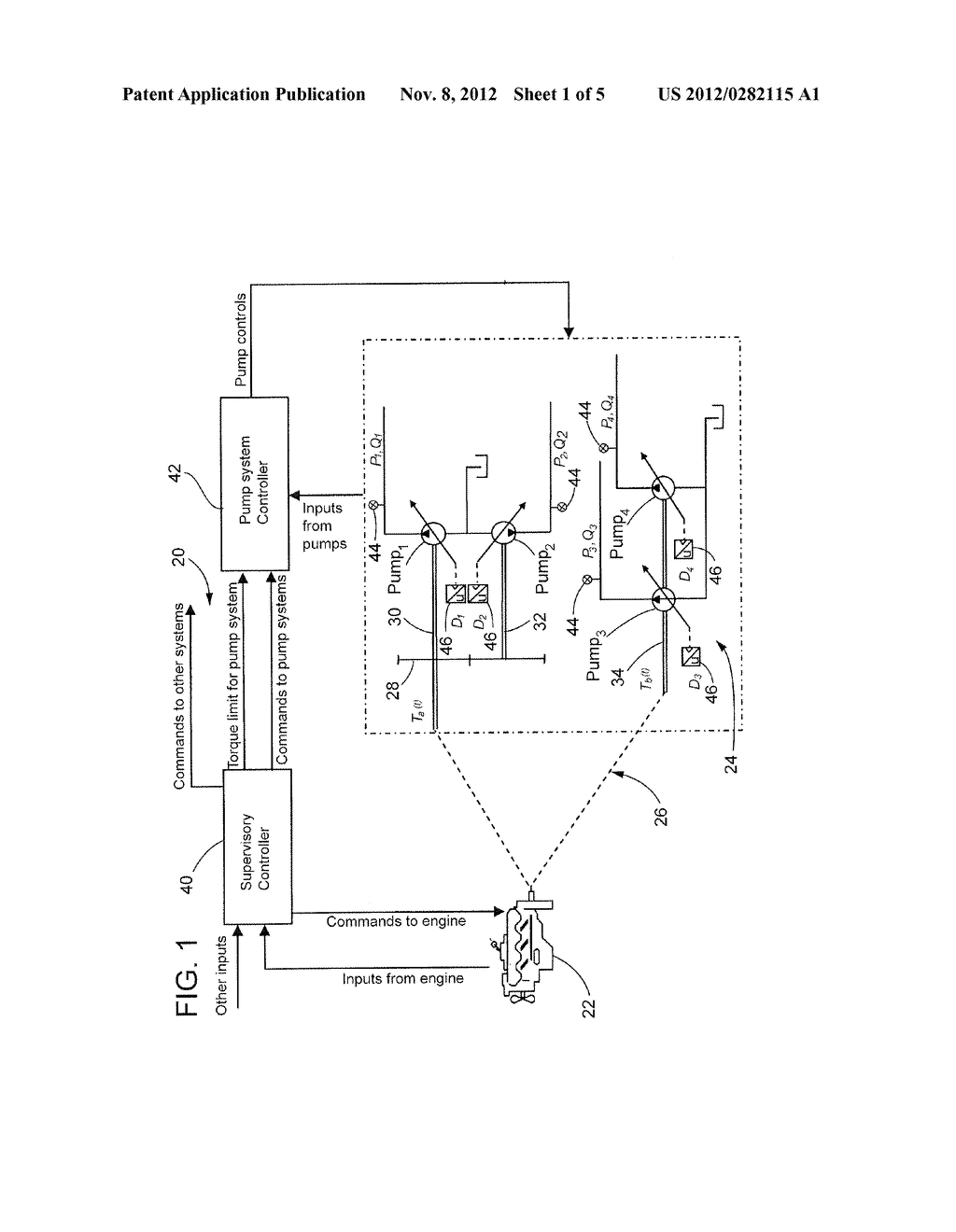 METHOD, APPARATUS, AND COMPUTER-READABLE STORAGE MEDIUM FOR CONTROLLING     TORQUE LOAD OF MULTIPLE VARIABLE DISPLACEMENT HYDRAULIC PUMPS - diagram, schematic, and image 02