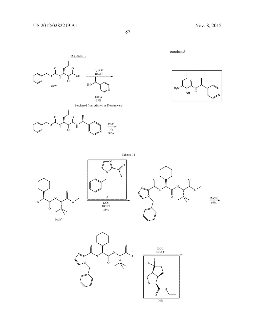 PEPTIDOMIMETIC PROTEASE INHIBITORS - diagram, schematic, and image 102