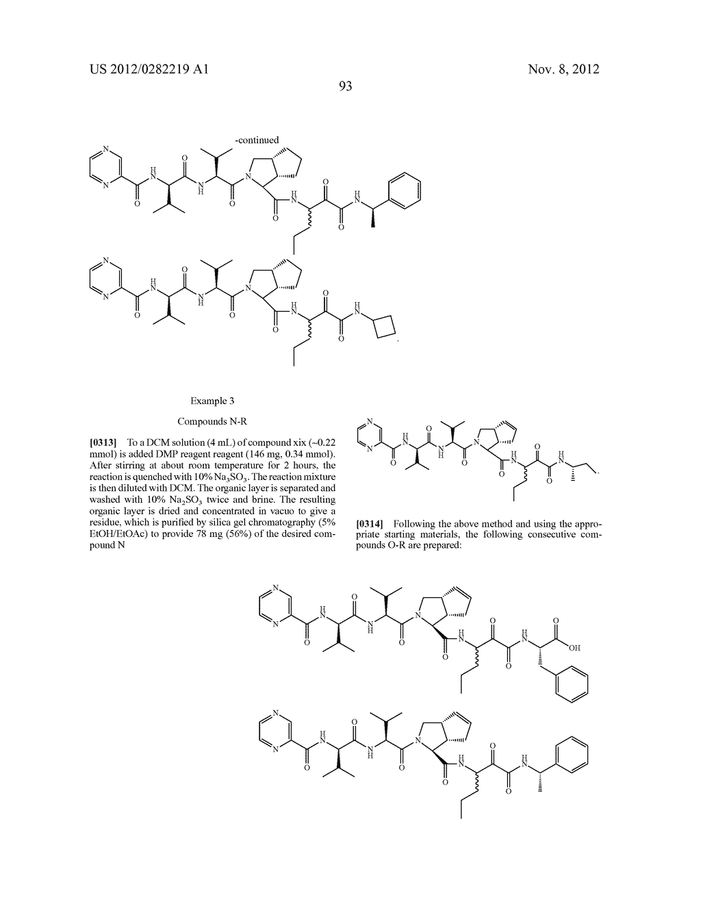 PEPTIDOMIMETIC PROTEASE INHIBITORS - diagram, schematic, and image 108