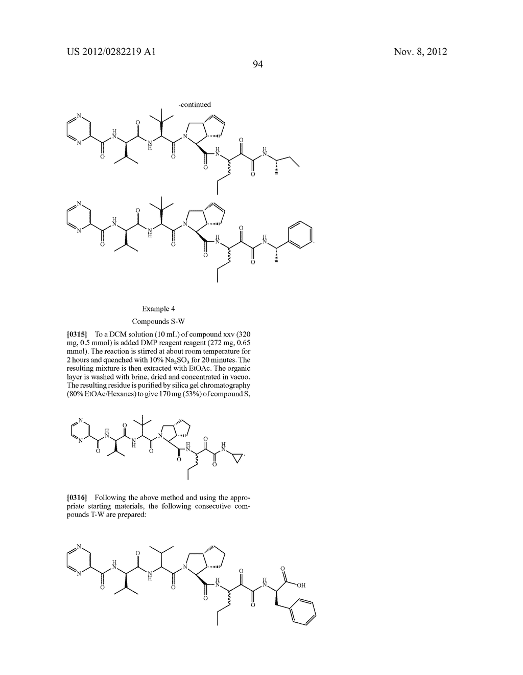 PEPTIDOMIMETIC PROTEASE INHIBITORS - diagram, schematic, and image 109