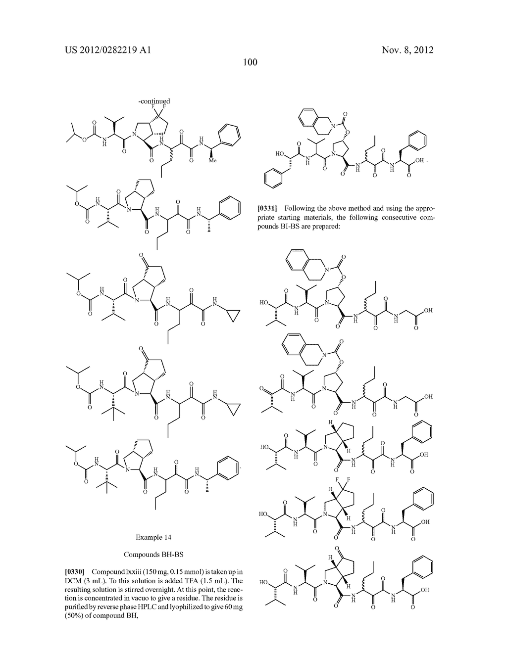 PEPTIDOMIMETIC PROTEASE INHIBITORS - diagram, schematic, and image 115