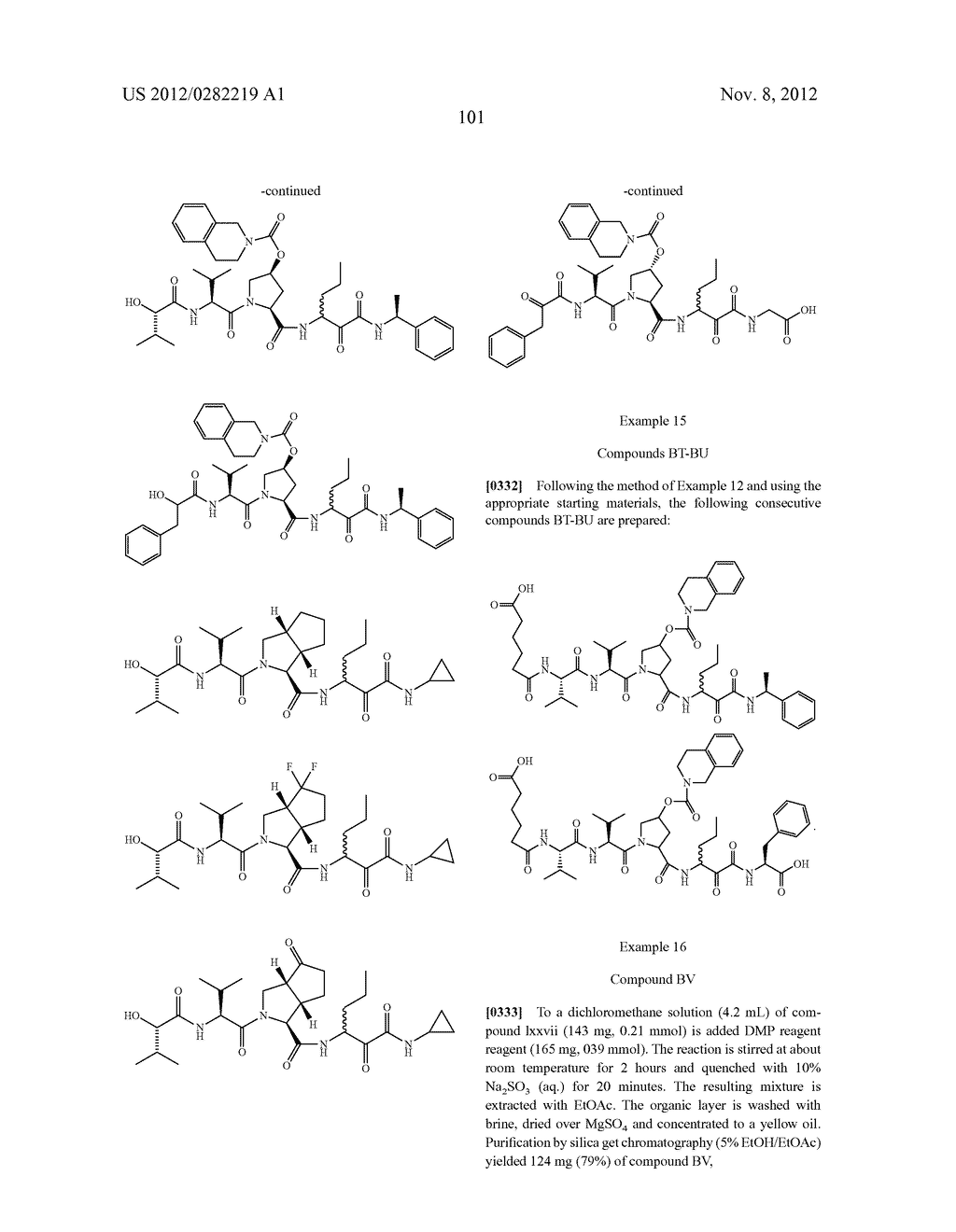 PEPTIDOMIMETIC PROTEASE INHIBITORS - diagram, schematic, and image 116