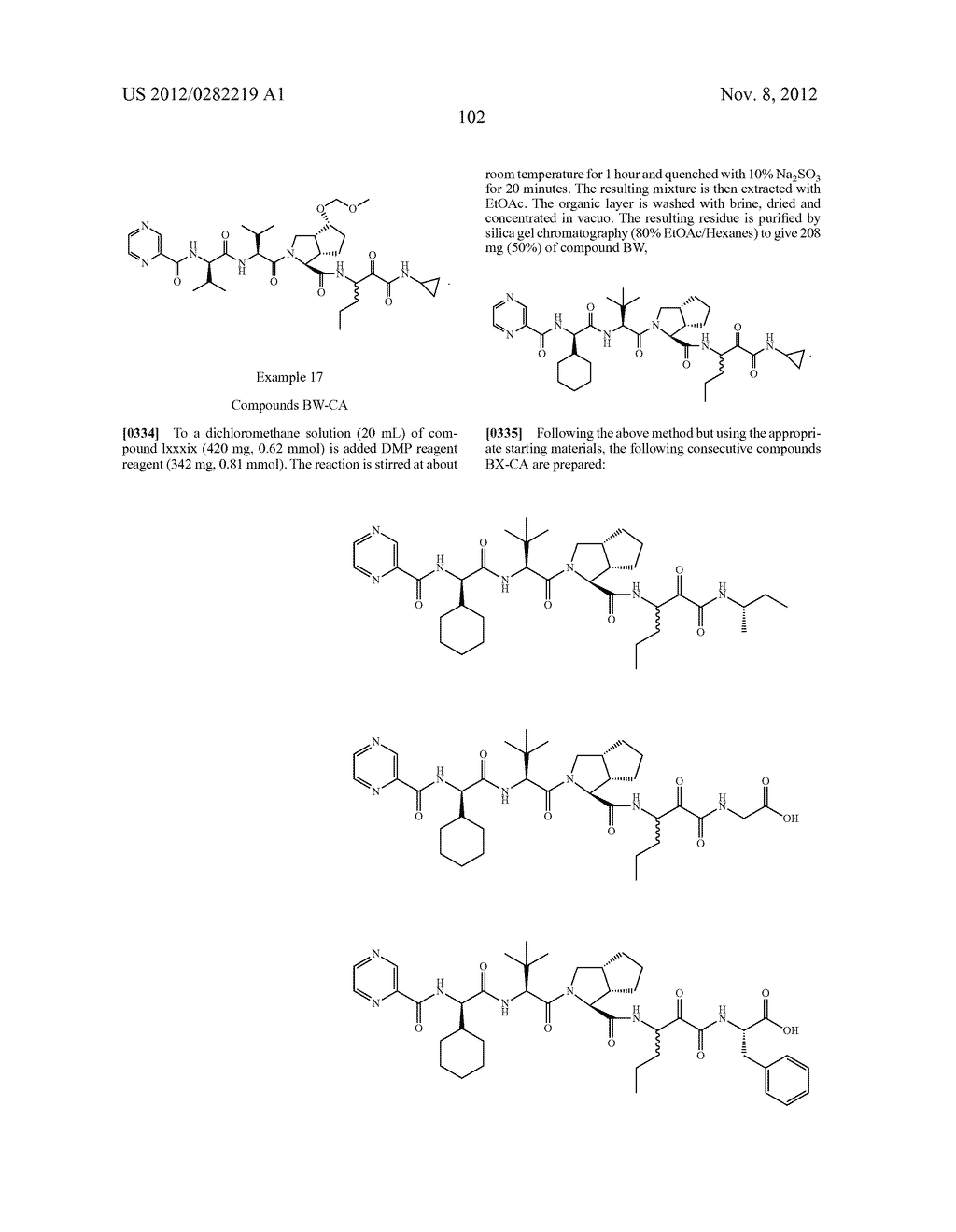 PEPTIDOMIMETIC PROTEASE INHIBITORS - diagram, schematic, and image 117