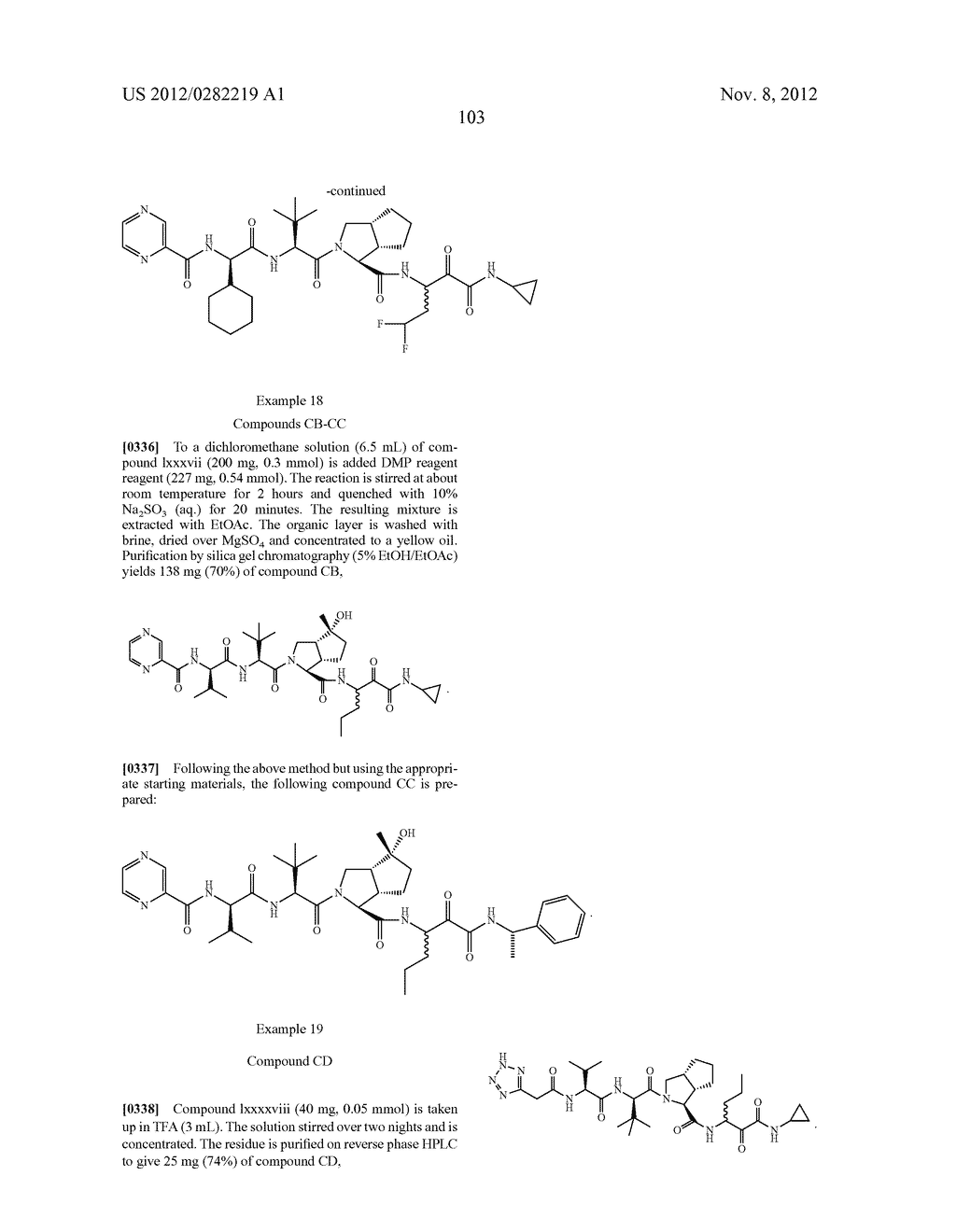 PEPTIDOMIMETIC PROTEASE INHIBITORS - diagram, schematic, and image 118