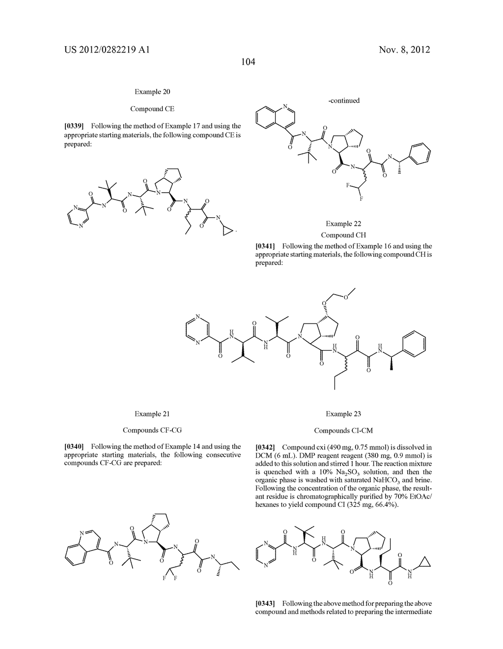 PEPTIDOMIMETIC PROTEASE INHIBITORS - diagram, schematic, and image 119