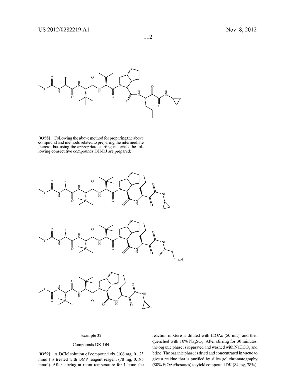 PEPTIDOMIMETIC PROTEASE INHIBITORS - diagram, schematic, and image 127
