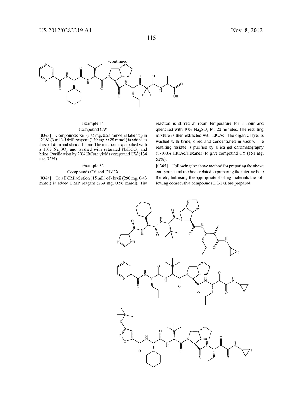 PEPTIDOMIMETIC PROTEASE INHIBITORS - diagram, schematic, and image 130