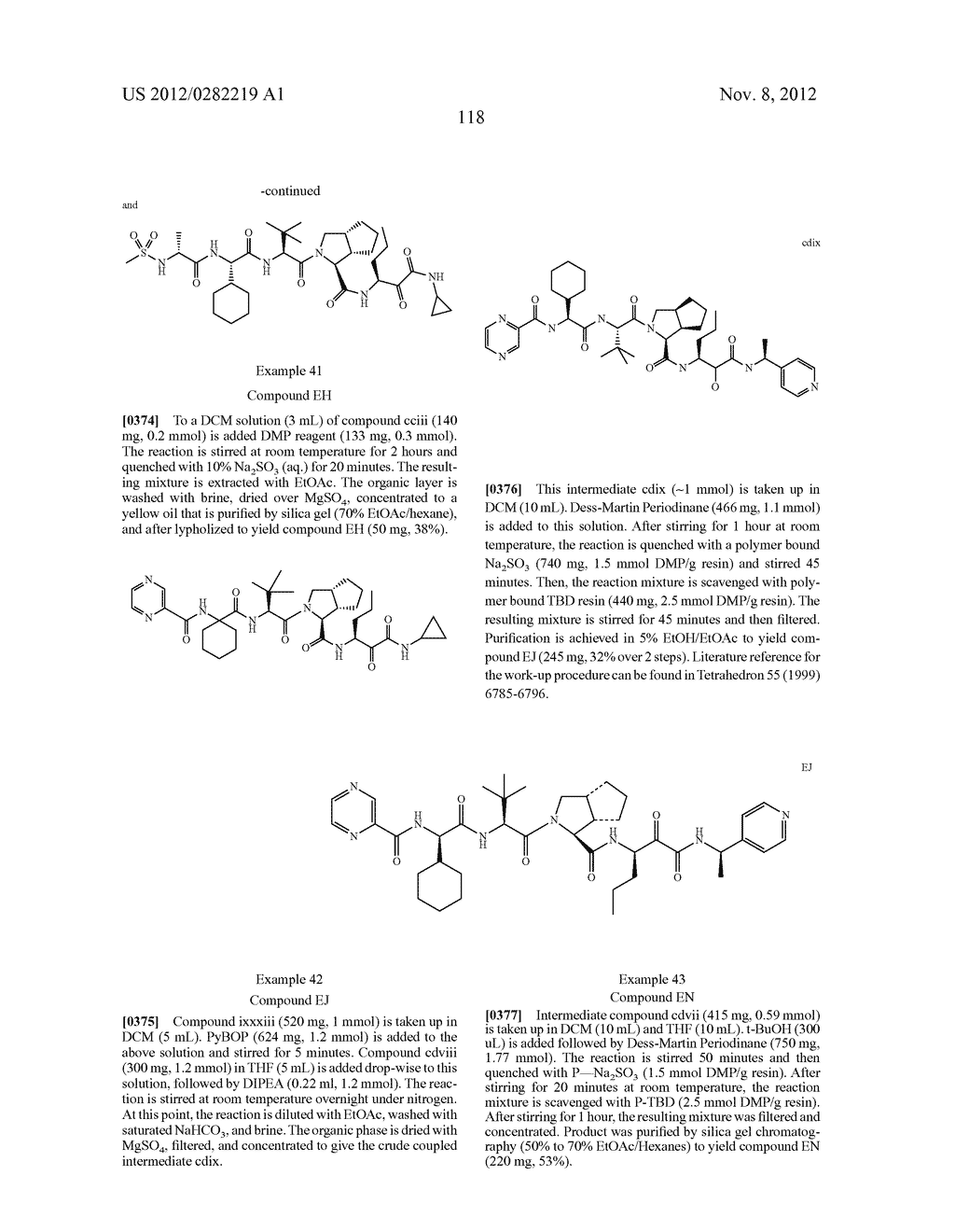 PEPTIDOMIMETIC PROTEASE INHIBITORS - diagram, schematic, and image 133