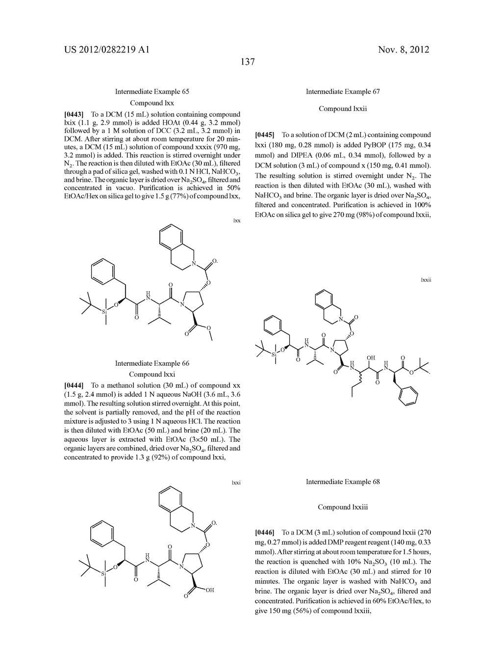 PEPTIDOMIMETIC PROTEASE INHIBITORS - diagram, schematic, and image 152
