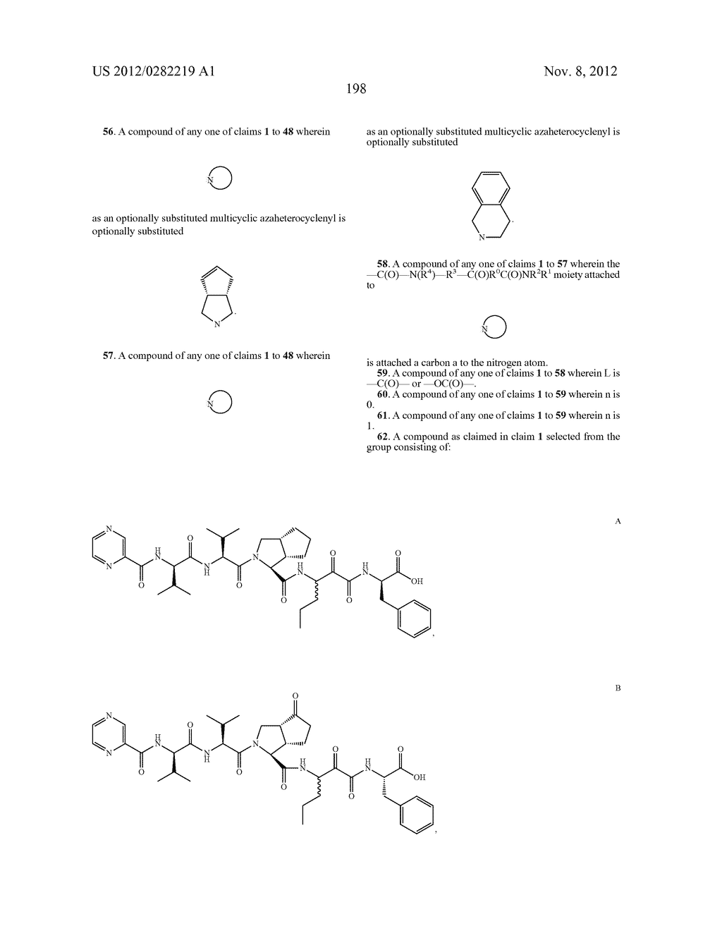 PEPTIDOMIMETIC PROTEASE INHIBITORS - diagram, schematic, and image 213