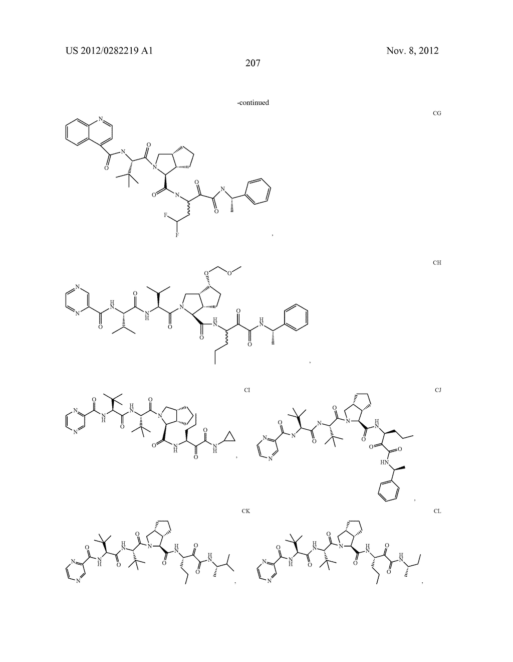 PEPTIDOMIMETIC PROTEASE INHIBITORS - diagram, schematic, and image 222