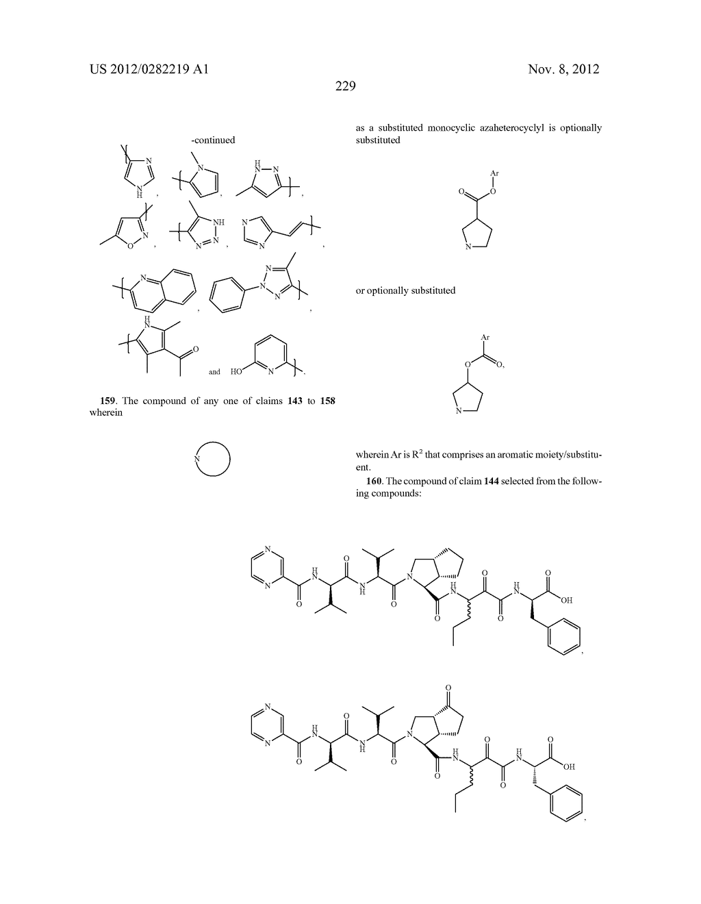 PEPTIDOMIMETIC PROTEASE INHIBITORS - diagram, schematic, and image 244
