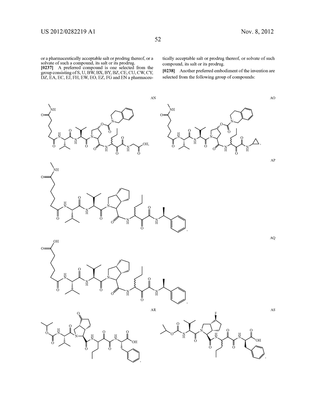 PEPTIDOMIMETIC PROTEASE INHIBITORS - diagram, schematic, and image 67