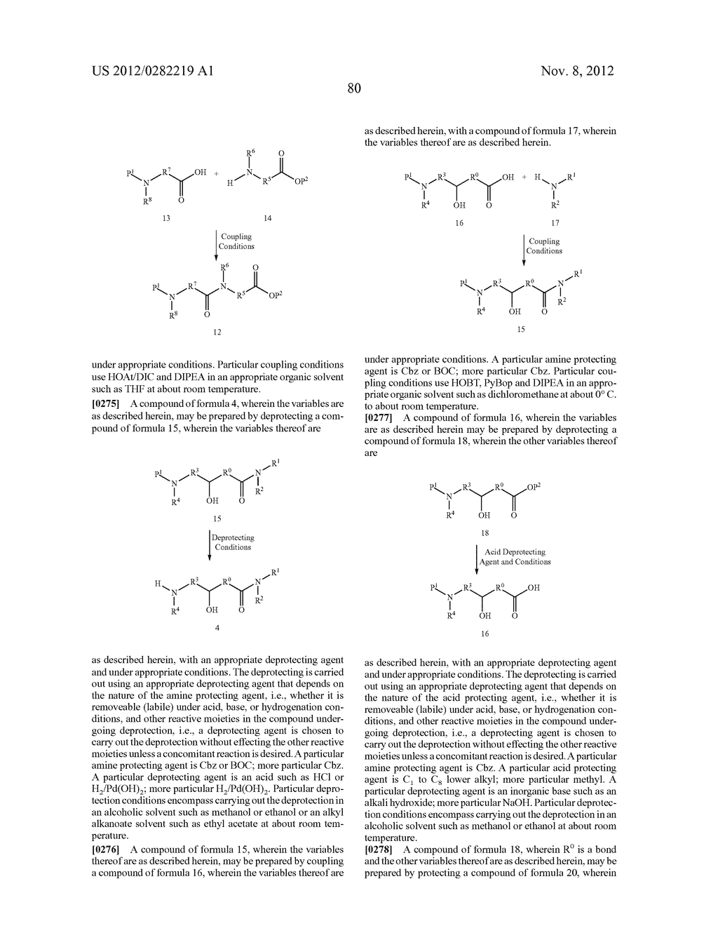 PEPTIDOMIMETIC PROTEASE INHIBITORS - diagram, schematic, and image 95