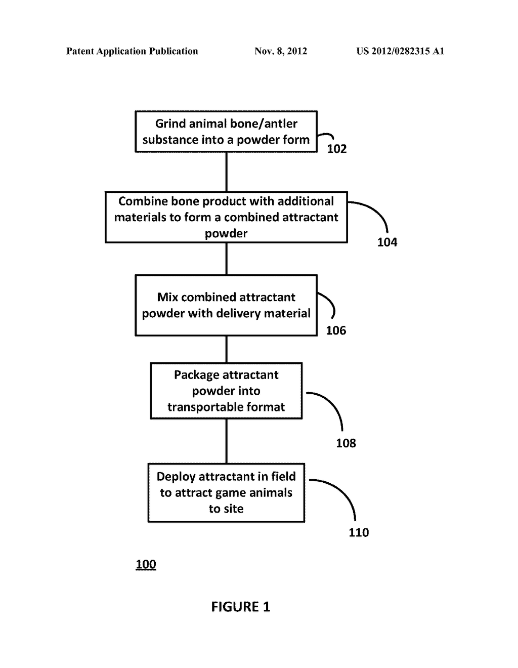 COMPOSITIONS AND METHODS FOR MAKING ANIMAL ATTRACTANT AND METHODS AND     SYSTEMS FOR DEPLOYING ANIMAL ATTRACTANT - diagram, schematic, and image 02