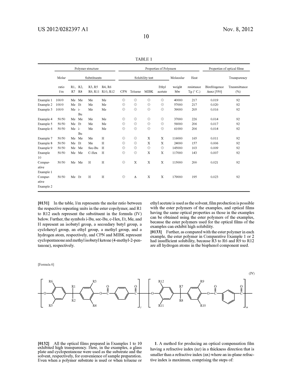 OPTICAL FILM AND METHOD FOR PRODUCTION THEREOF - diagram, schematic, and image 12