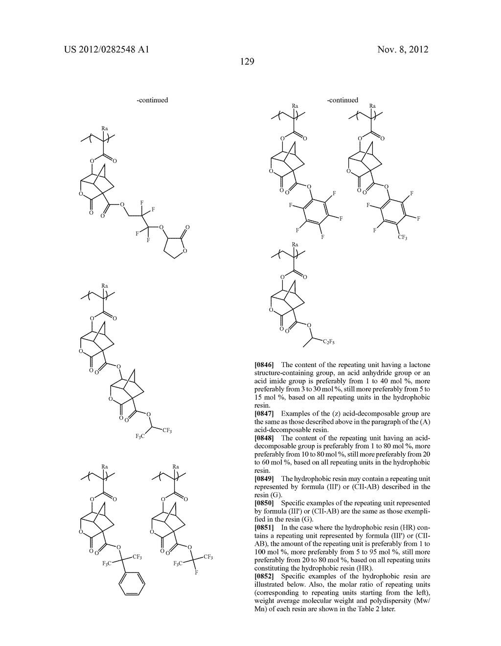 PATTERN FORMING METHOD, ACTINIC RAY-SENSITIVE OR RADIATION-SENSITIVE RESIN     COMPOSITION AND RESIST FILM - diagram, schematic, and image 130