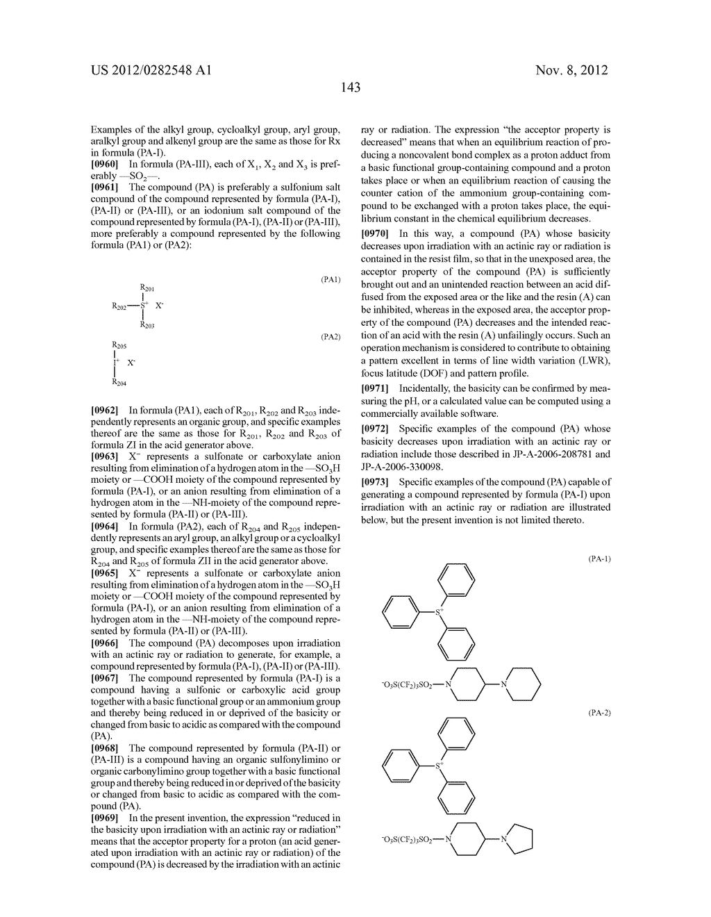 PATTERN FORMING METHOD, ACTINIC RAY-SENSITIVE OR RADIATION-SENSITIVE RESIN     COMPOSITION AND RESIST FILM - diagram, schematic, and image 144
