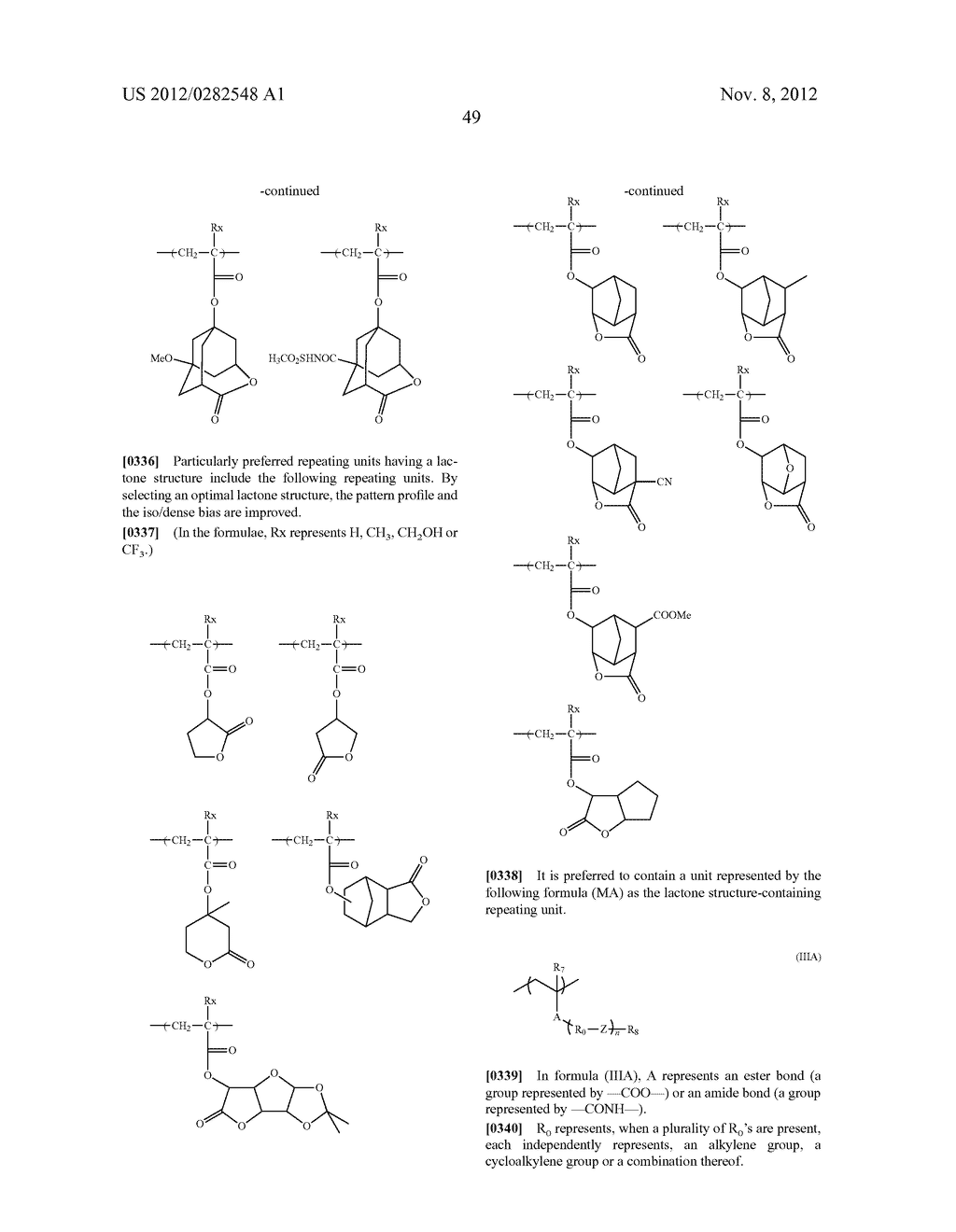PATTERN FORMING METHOD, ACTINIC RAY-SENSITIVE OR RADIATION-SENSITIVE RESIN     COMPOSITION AND RESIST FILM - diagram, schematic, and image 50