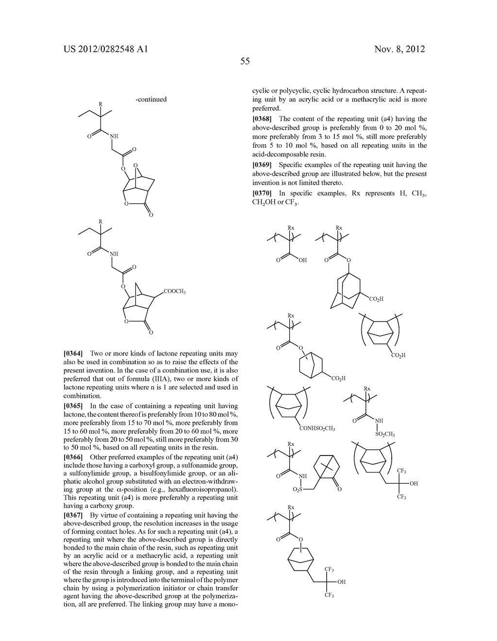 PATTERN FORMING METHOD, ACTINIC RAY-SENSITIVE OR RADIATION-SENSITIVE RESIN     COMPOSITION AND RESIST FILM - diagram, schematic, and image 56