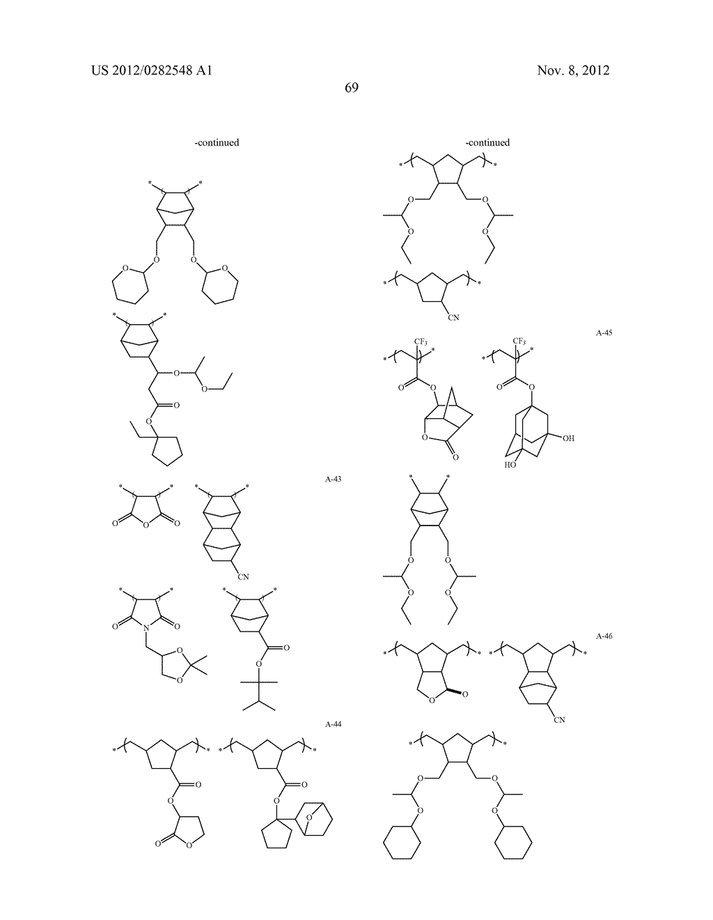PATTERN FORMING METHOD, ACTINIC RAY-SENSITIVE OR RADIATION-SENSITIVE RESIN     COMPOSITION AND RESIST FILM - diagram, schematic, and image 70