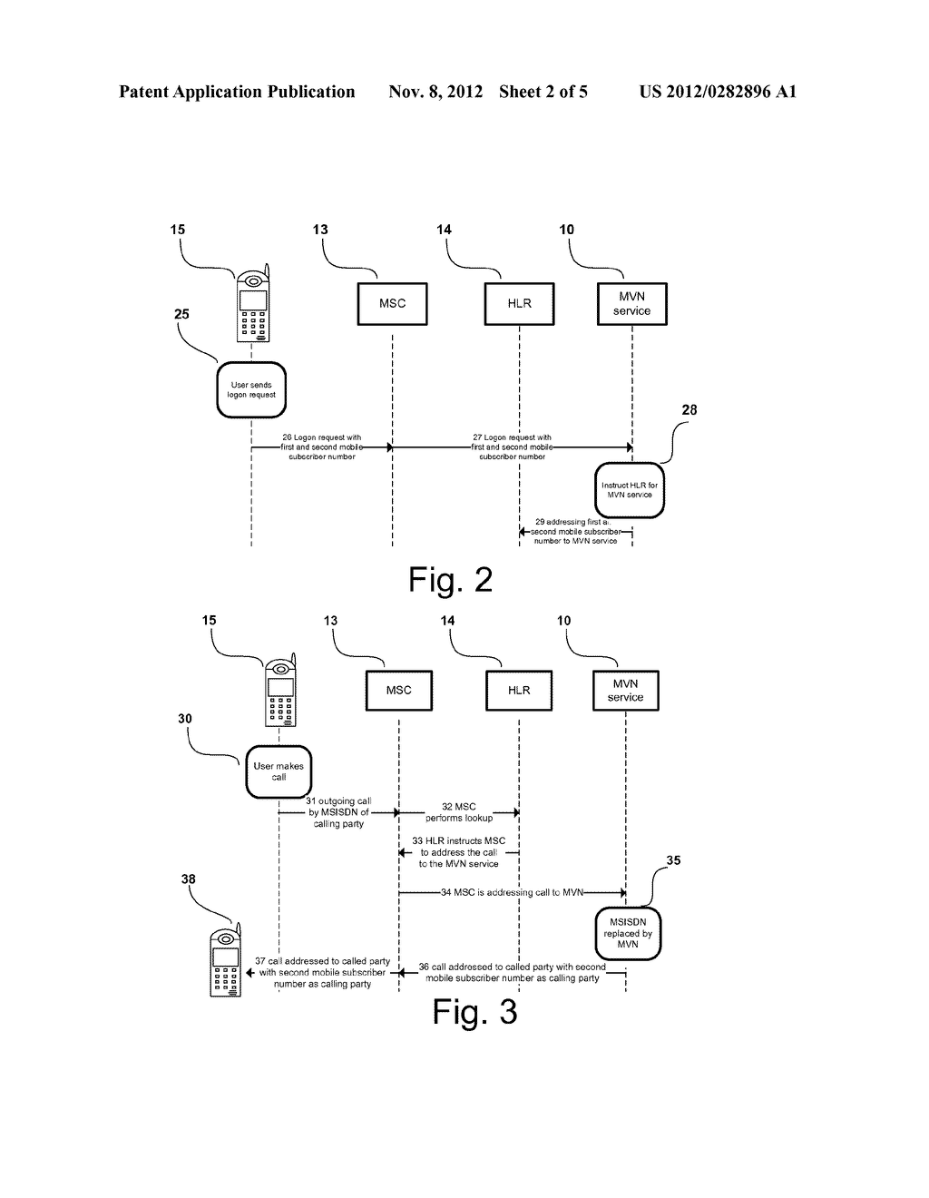 Method, Apparatus and System for a Mobile Virtual Number Service in a     Mobile Telecommunications System - diagram, schematic, and image 03