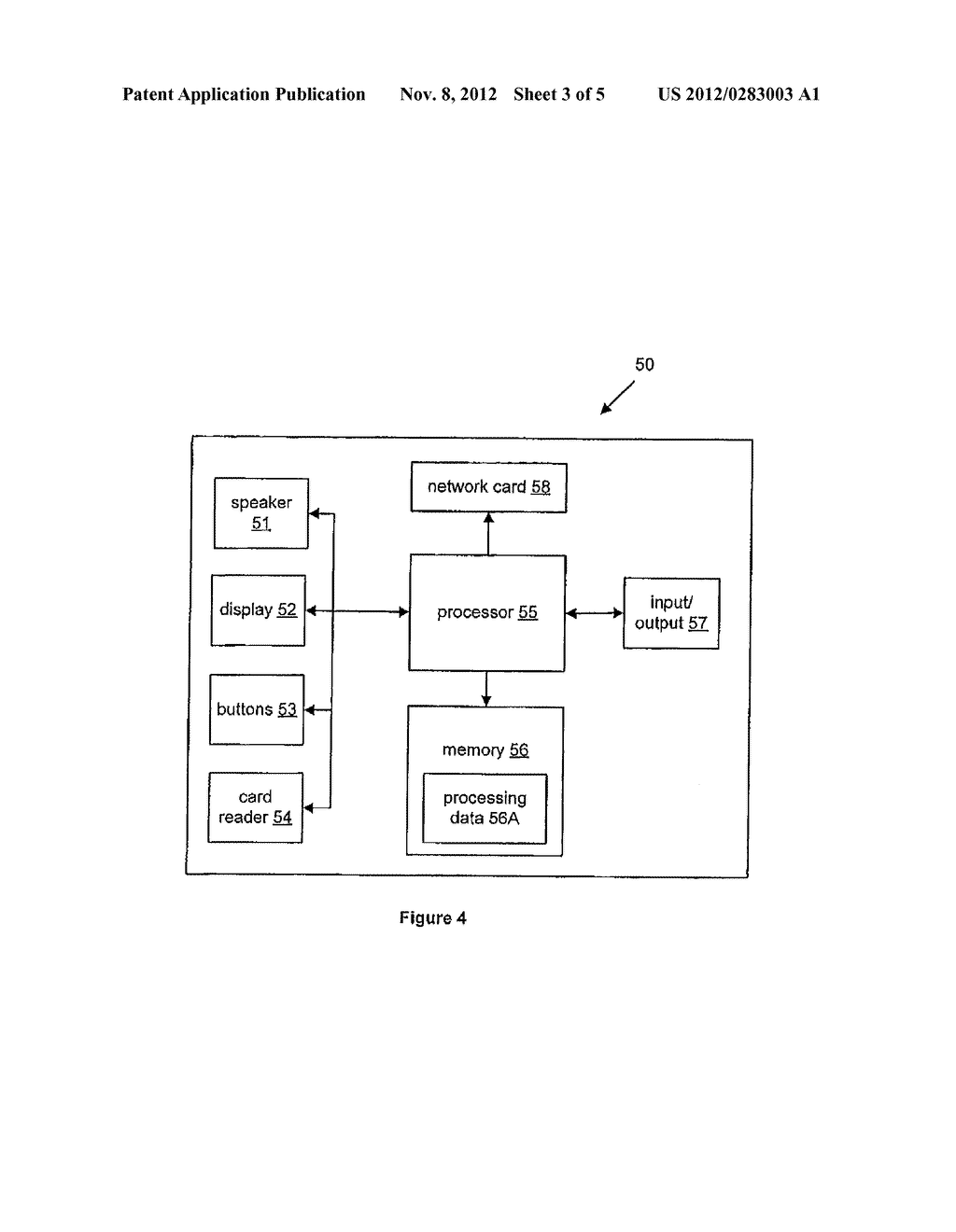 METHOD OF PROCESSING A USER DATA CARD, AN INTERFACE MODULE AND A GAMING     SYSTEM - diagram, schematic, and image 04