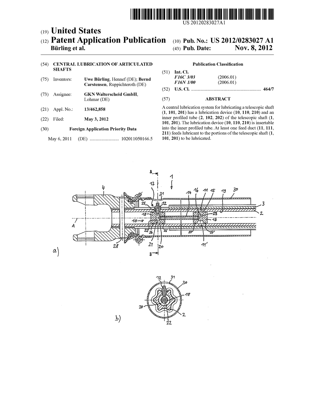 Central Lubrication of Articulated Shafts - diagram, schematic, and image 01