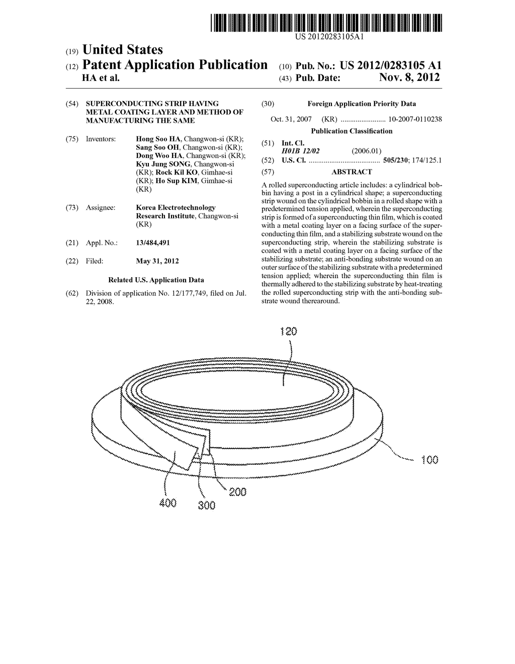 Superconducting Strip Having Metal Coating Layer and Method Of     Manufacturing the Same - diagram, schematic, and image 01