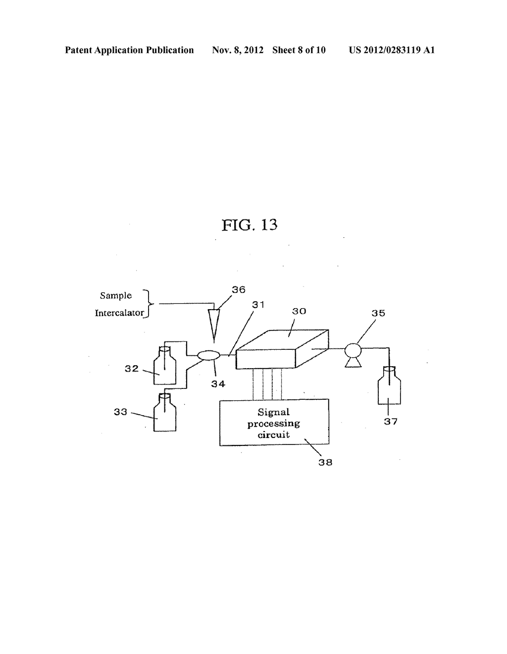 POTENTIOMETRIC DNA MICROARRAY, PROCESS FOR PRODUCING THE SAME AND METHOD     OF ANALYZING NUCLEIC ACID - diagram, schematic, and image 09