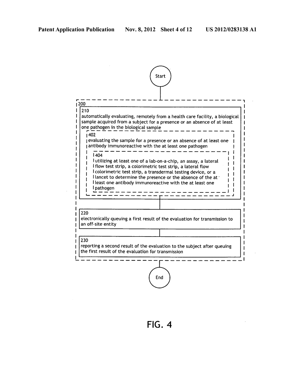 System and device for reporting a result of an evaluation of a sample     after queuing the result for transmission - diagram, schematic, and image 05