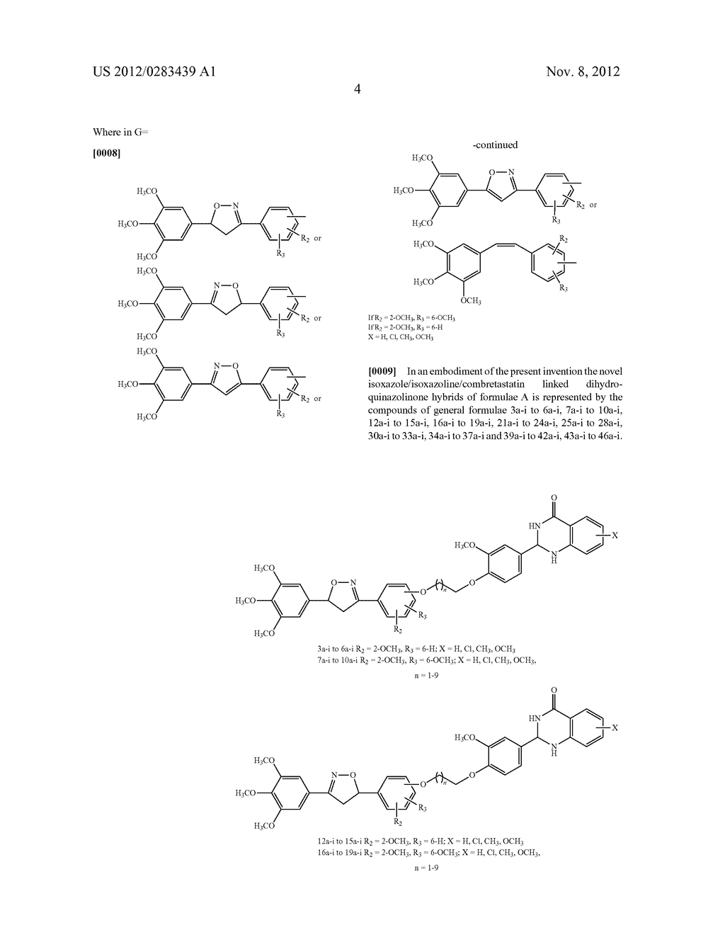 ISOXAZOLE/ISOXAZOLINE/COMBRETASTATIN LINKED DIHYDROQUINAZOLINONE HYBRIDS     AS POTENTIAL ANTICANCER AGENTS AND PROCESS FOR THE PREPARATION THEREOF - diagram, schematic, and image 06