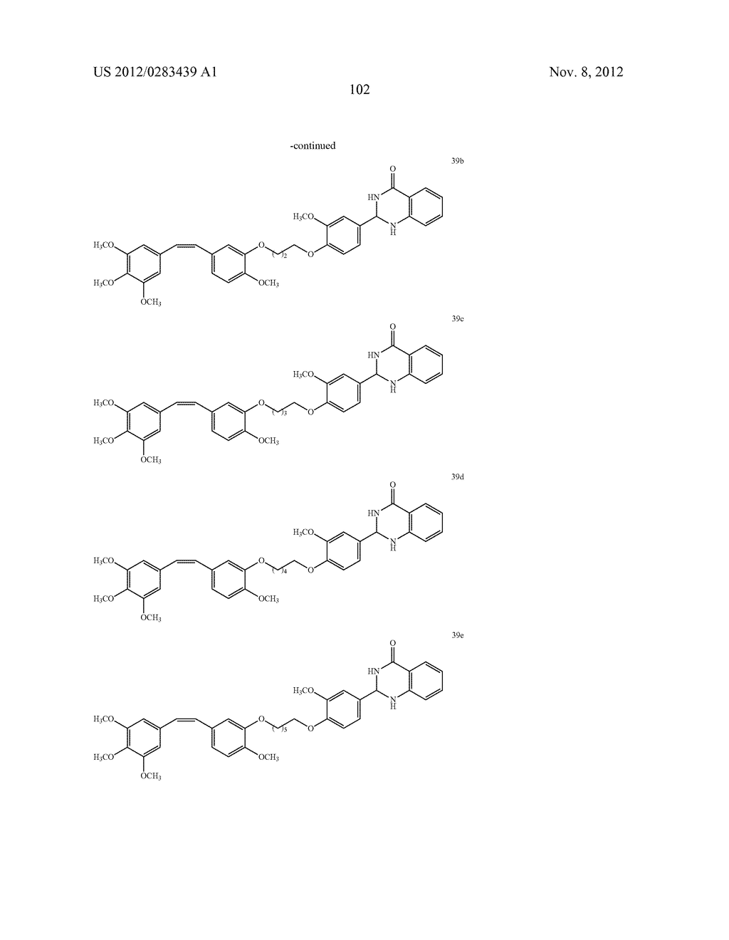 ISOXAZOLE/ISOXAZOLINE/COMBRETASTATIN LINKED DIHYDROQUINAZOLINONE HYBRIDS     AS POTENTIAL ANTICANCER AGENTS AND PROCESS FOR THE PREPARATION THEREOF - diagram, schematic, and image 104