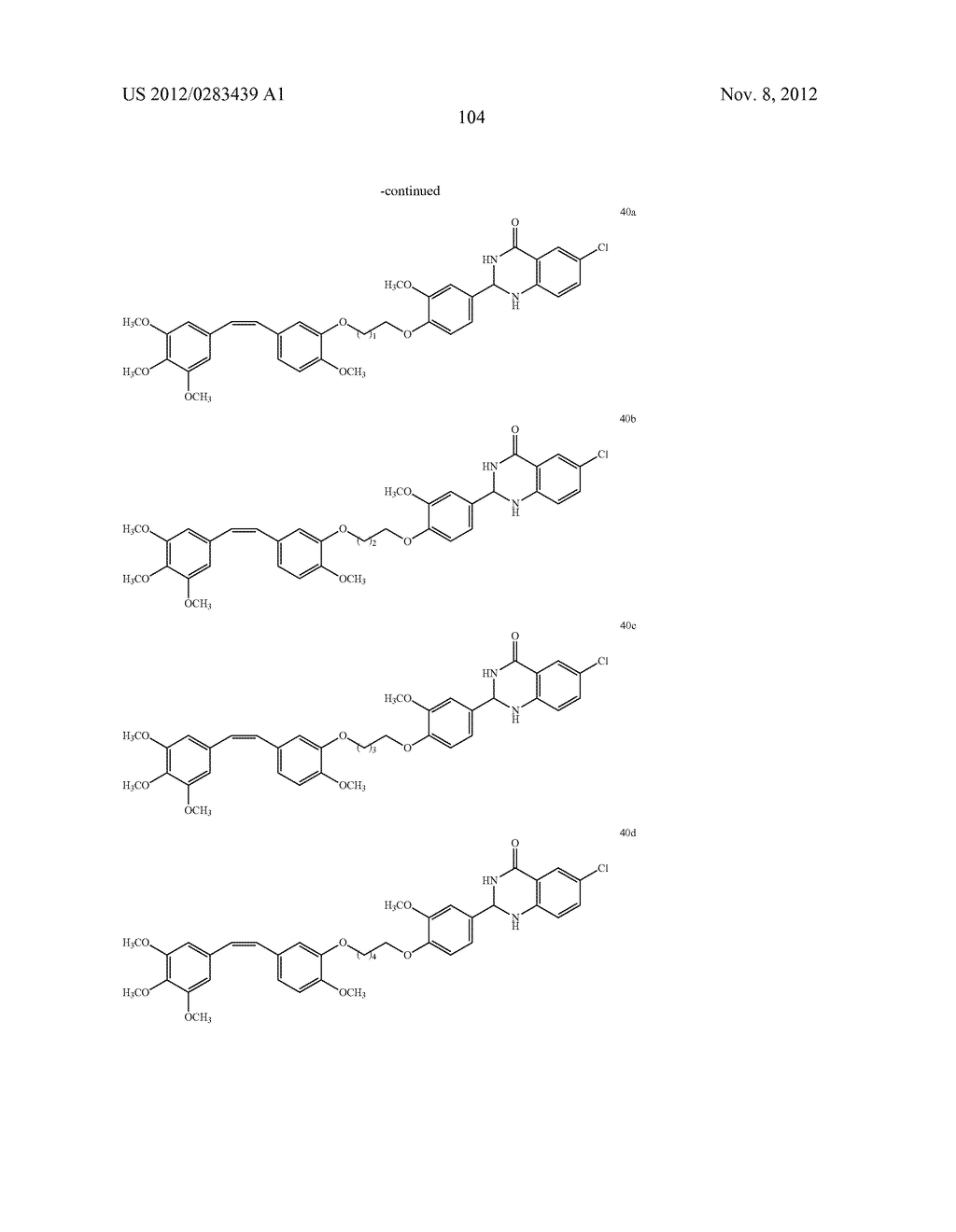ISOXAZOLE/ISOXAZOLINE/COMBRETASTATIN LINKED DIHYDROQUINAZOLINONE HYBRIDS     AS POTENTIAL ANTICANCER AGENTS AND PROCESS FOR THE PREPARATION THEREOF - diagram, schematic, and image 106