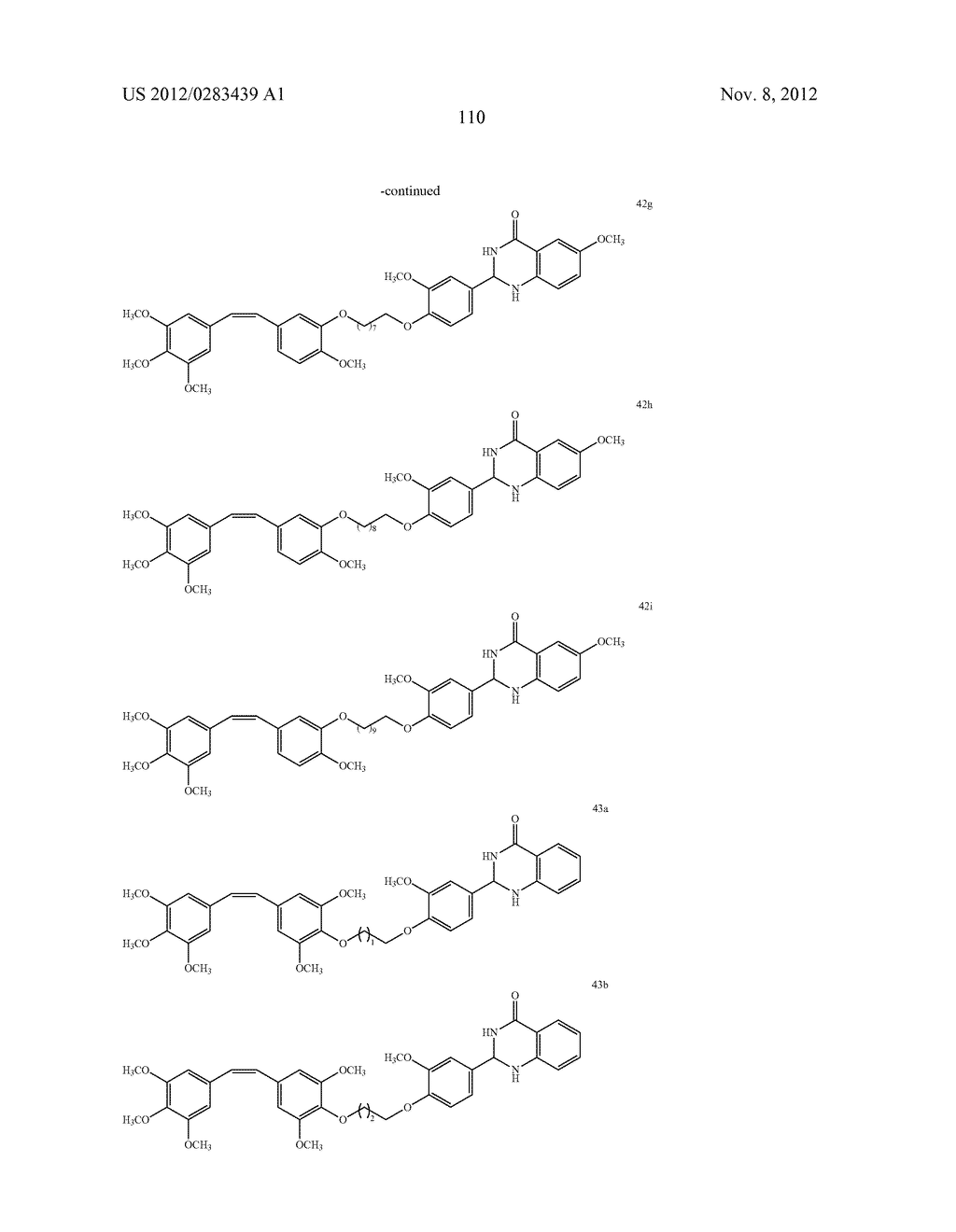 ISOXAZOLE/ISOXAZOLINE/COMBRETASTATIN LINKED DIHYDROQUINAZOLINONE HYBRIDS     AS POTENTIAL ANTICANCER AGENTS AND PROCESS FOR THE PREPARATION THEREOF - diagram, schematic, and image 112