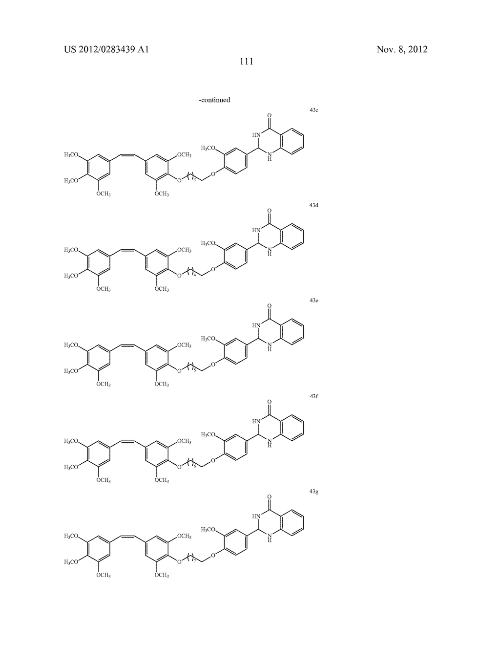 ISOXAZOLE/ISOXAZOLINE/COMBRETASTATIN LINKED DIHYDROQUINAZOLINONE HYBRIDS     AS POTENTIAL ANTICANCER AGENTS AND PROCESS FOR THE PREPARATION THEREOF - diagram, schematic, and image 113